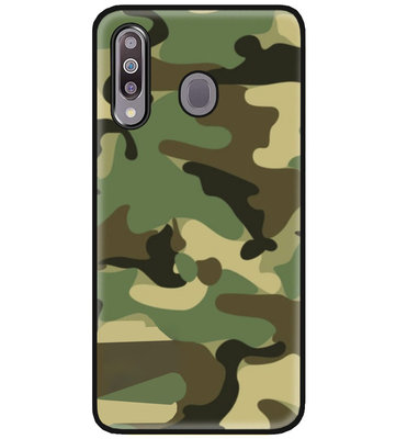 ADEL Siliconen Back Cover Softcase Hoesje voor Samsung Galaxy M30 - Camouflage