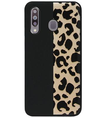 ADEL Siliconen Back Cover Softcase Hoesje voor Samsung Galaxy M30 - Luipaard Bruin