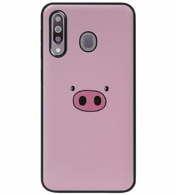 ADEL Siliconen Back Cover Softcase Hoesje voor Samsung Galaxy M30 - Biggetje