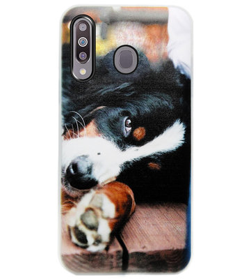 ADEL Siliconen Back Cover Softcase Hoesje voor Samsung Galaxy M30 - Berner Sennenhond