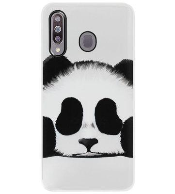 ADEL Siliconen Back Cover Softcase Hoesje voor Samsung Galaxy M30 - Panda