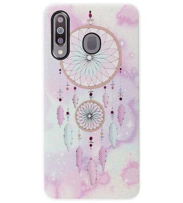 ADEL Siliconen Back Cover Softcase Hoesje voor Samsung Galaxy M30 - Dromenvanger Kleur