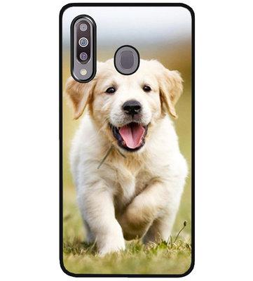 ADEL Siliconen Back Cover Softcase Hoesje voor Samsung Galaxy M30 - Labrador Retriever Hond