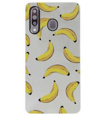 ADEL Siliconen Back Cover Softcase Hoesje voor Samsung Galaxy M30 - Bananen Geel