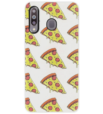 ADEL Siliconen Back Cover Softcase Hoesje voor Samsung Galaxy M30 - Junkfood Pizza