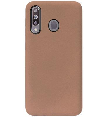ADEL Siliconen Back Cover Softcase Hoesje voor Samsung Galaxy M30 - Bruin