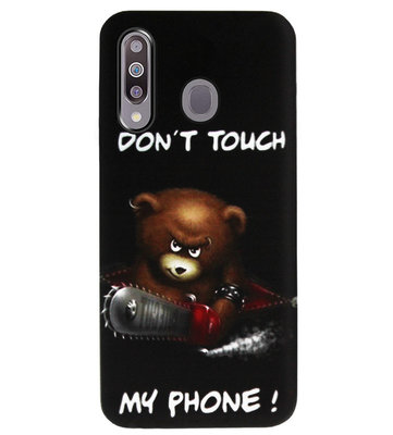 ADEL Siliconen Back Cover Softcase Hoesje voor Samsung Galaxy M30 - Don't Touch My Phone Beren