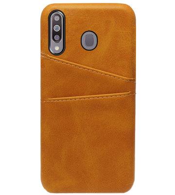 ADEL Kunstleren Back Cover Pasjes Hoesje voor Samsung Galaxy M30 - Bruin