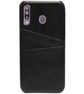 ADEL Kunstleren Back Cover Pasjes Hoesje voor Samsung Galaxy M30 - Zwart