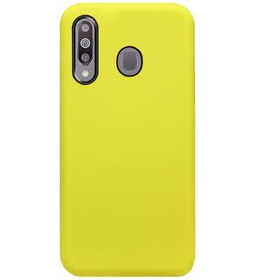 ADEL Premium Siliconen Back Cover Softcase Hoesje voor Samsung Galaxy M30 - Geel