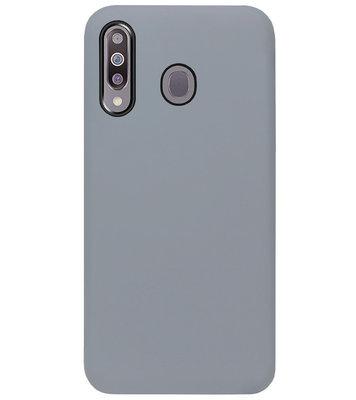 ADEL Siliconen Back Cover Softcase Hoesje voor Samsung Galaxy M30 - Grijs
