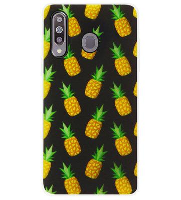 ADEL Siliconen Back Cover Softcase Hoesje voor Samsung Galaxy M30 - Ananas