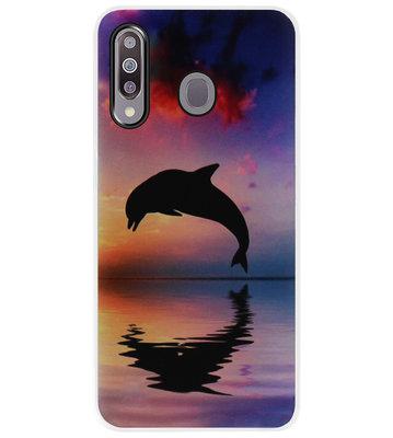 ADEL Kunststof Back Cover Hardcase Hoesje voor Samsung Galaxy M30 - Dolfijn
