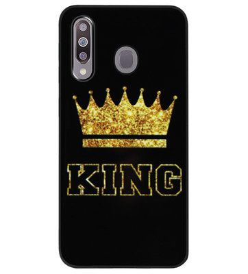 ADEL Siliconen Back Cover Softcase Hoesje voor Samsung Galaxy M30 - King Koning
