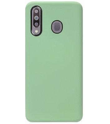 ADEL Premium Siliconen Back Cover Softcase Hoesje voor Samsung Galaxy M30 - Lichtgroen