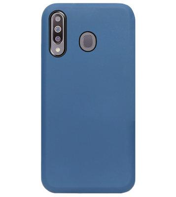 ADEL Premium Siliconen Back Cover Softcase Hoesje voor Samsung Galaxy M30 - Blauw