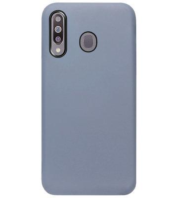 ADEL Premium Siliconen Back Cover Softcase Hoesje voor Samsung Galaxy M30 - Lavendel
