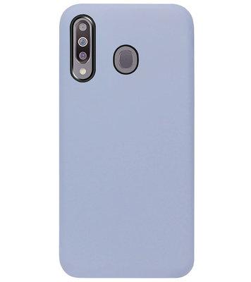 ADEL Premium Siliconen Back Cover Softcase Hoesje voor Samsung Galaxy M30 - Lavendel Grijs