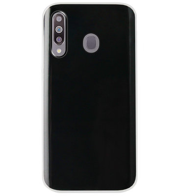 ADEL Siliconen Back Cover Softcase Hoesje voor Samsung Galaxy M30 - Doorzichtig Transparant