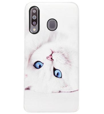 ADEL Siliconen Back Cover Softcase Hoesje voor Samsung Galaxy M30 - Katten