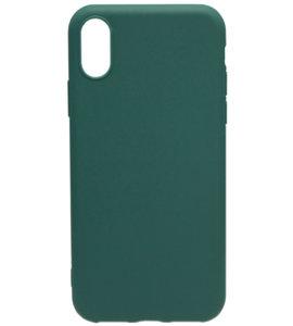 ADEL Siliconen Back Cover Hoesje voor iPhone XS/X - Groen