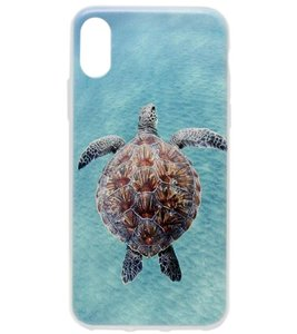 ADEL Siliconen Back Cover Softcase Hoesje voor iPhone XS/X - Schildpad