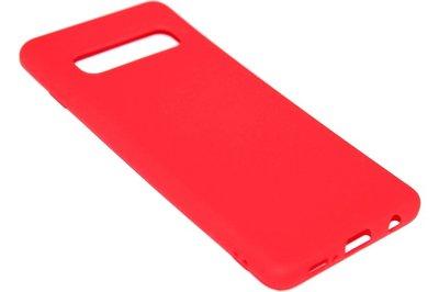 ADEL Siliconen Back Cover Hoesje voor Samsung Galaxy S10 - Rood