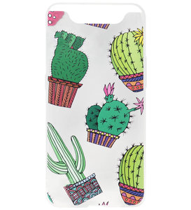 ADEL Siliconen Back Cover Softcase Hoesje voor Samsung Galaxy A80/ A90 - Cactus