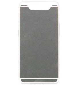 ADEL Siliconen Back Cover Softcase Hoesje voor Samsung Galaxy A80/ A90 - Spiegel Zilver