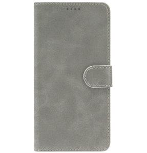 ADEL Kunstleren Book Case Portemonnee Pasjes Hoesje voor Samsung Galaxy A80/ A90 - Grijs