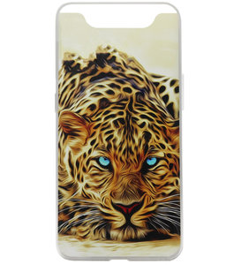 ADEL Siliconen Back Cover Softcase Hoesje voor Samsung Galaxy A80/ A90 - Tijger Oranje
