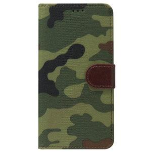 ADEL Kunstleren Book Case Pasjes Portemonnee Hoesje voor Samsung Galaxy S10 - Camouflage Groen